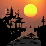 Asian landscape Stock Photo