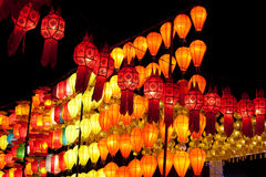 Asian lantern. In the nighttime Stock Image