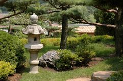 Asian Lantern Garden II Stock Images