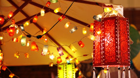 Asian lantern lighting Stock Image