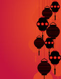 Asian lanterns background Stock Images