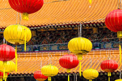 Asian lanterns. In the chinese temple Stock Image