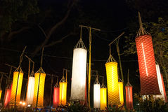 Asian Lanterns Festival. Asian traditional laterns at New Year festival nights in Vietnam Stock Photography