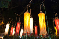 Asian Lanterns Festival. Asian traditional laterns at New Year festival nights in Vietnam Stock Images