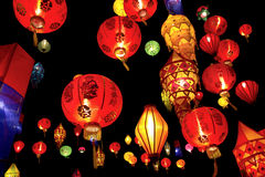 Asian lanterns. In lantern festival Stock Photography