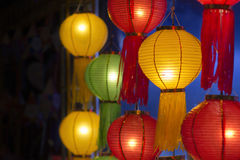 Asian lanterns in lantern festival Royalty Free Stock Photo