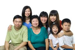 Asian large family portrait stock photography