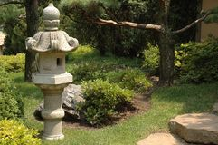 Asian Latern Garden I. Stone asian lantern in garden Stock Photo