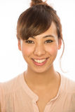 Asian Latina girl woman smile face portrait Royalty Free Stock Photos