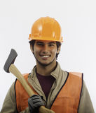 Asian latino hard hat worker Royalty Free Stock Photos