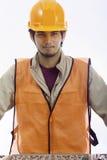Asian latino hard hat worker Stock Photos