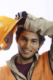 Asian latino hardhat worker Royalty Free Stock Photography