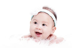 Asian Laughing baby Royalty Free Stock Image
