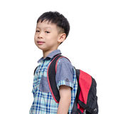 Asian lboy with school bag Stock Images