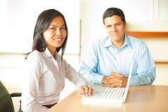 Asian Leader Business Meeting Hispanic Male Stock Photo