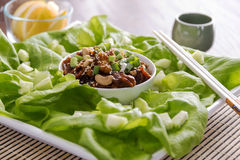 Asian lettuce wraps Royalty Free Stock Photography