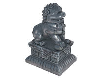 Asian_lion_statuette Royalty Free Stock Photography