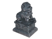 Asian_lion_statuette Royalty Free Stock Images