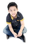 Asian  little boy isolate on white background . Royalty Free Stock Image