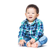 Asian little boy. Isolated on white Royalty Free Stock Photos
