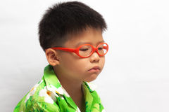 Asian little boy sadly Royalty Free Stock Image