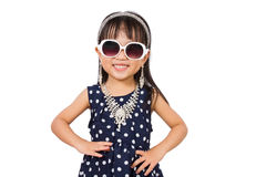 Asian Little Chinese Fashion Girl Posing Stock Images
