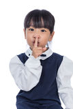 Asian Little Chinese Girl asking for silence Royalty Free Stock Photo