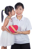 Asian Little Chinese Girl celebrating mother`s day with her mom Stock Images