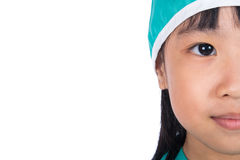 Asian Little Chinese Girl dressed as a doctor Stock Photography
