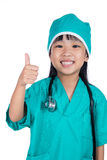Asian Little Chinese Girl dressed as a doctor Royalty Free Stock Photography
