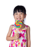 Asian Little Chinese girl holding lollipop Stock Photography