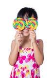 Asian Little Chinese girl holding lollipop Stock Photos