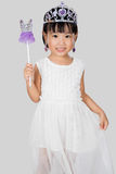 Asian Little Chinese Girl in Princess Costume Royalty Free Stock Images