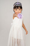 Asian Little Chinese Girl in Princess Costume Stock Image
