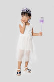 Asian Little Chinese Girl in Princess Costume Royalty Free Stock Image