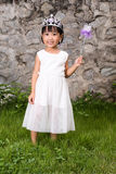 Asian Little Chinese Girl in Princess Costume Stock Photo