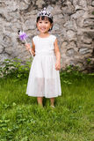 Asian Little Chinese Girl in Princess Costume Royalty Free Stock Photos