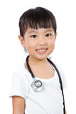 Asian Little Chinese Girl With a Stethoscope Royalty Free Stock Image
