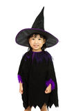 Asian Little Chinese Girl Wearing Halloween Costume Stock Images