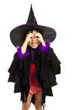 Asian Little Chinese Girl Wearing Halloween Costume Stock Photos