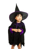 Asian Little Chinese Girl Wearing Halloween Costume Royalty Free Stock Photos