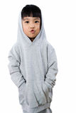 Asian Little Chinese Girl Wearing a Hoodie Royalty Free Stock Photography