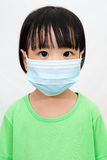 Asian Little Chinese Girl Wearing a Protective Mask Royalty Free Stock Photography