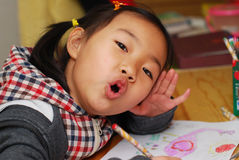Asian little girl royalty free stock images