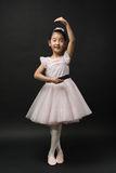 Asian little girl ballerina Stock Photo