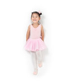 Asian little girl ballerina Royalty Free Stock Photos