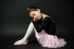 Asian little girl ballerina Royalty Free Stock Photography