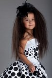 Asian little girl in beautiful dress Stock Images