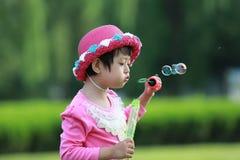Asian little girl stock photo