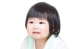 Asian little girl cry Stock Photos